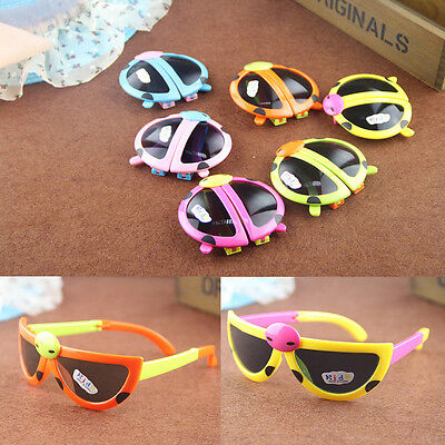 Children Sunglasses Foldable Cool Beetle Kids Glasses Summer Anti-UV Goggle