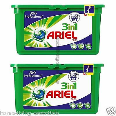 Ariel 3 In 1 Washing Capsules Pods Liquitabs 2 X 42 Packs P&G Professional