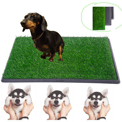 "30""x20"" Dog Toilet Pet Puppy Potty House Training Indoor Trainer Grass Mat"