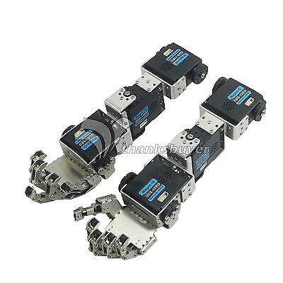 Humanoid Robot Left+Right Hand Arm Fingers Manipulator w/ Servo for DIY Robotics
