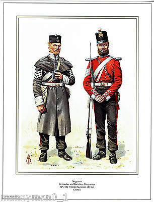 British signed Military Print Welsh Regiment of Foot