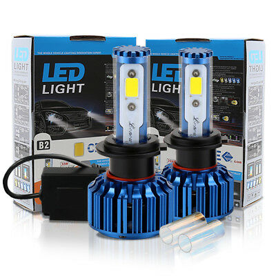 2x H7 Xenon Extreme 30W 3000LM COB CREE LED Headlight Kit CanBus blinkers HID