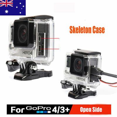 Pro Protective Case Skeleton Housing Open Side With Lens for GoPro Hero 4 3+ Cam