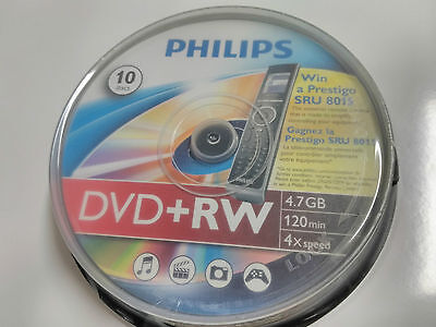 DVD+RW Philips Pack 10 unidades