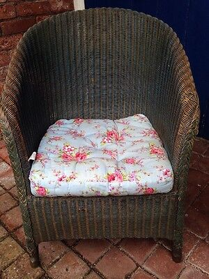 Lloyd Loom Chair Blue Original Paint Tub Style Vintage 1931