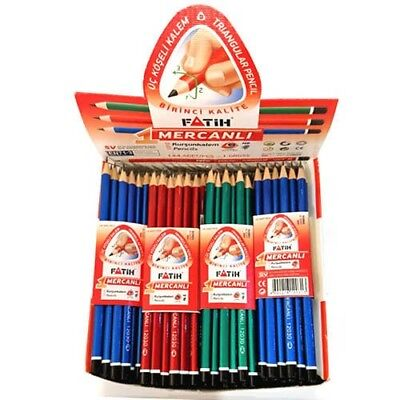 Box of 144 HB Pencils. Triangular. Easy Grip. School, Office & Drawing.