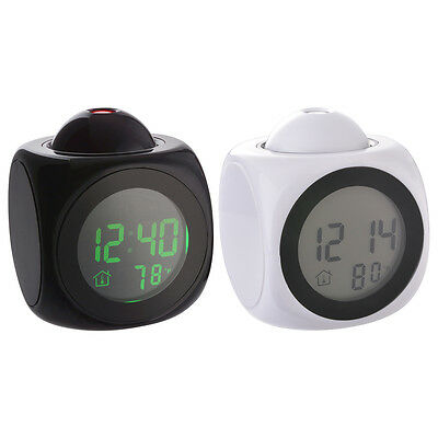 Multi-function Digital LCD Projection Alarm Clock Voice Talking Temperature LED