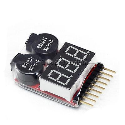 1-8S Battery 2 in1 RC Li-ion Lipo  Low Voltage Meter Tester Buzzer Alarm TOP