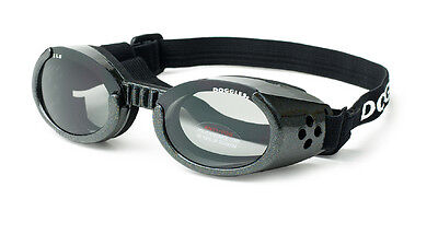 SUNGLASSES FOR DOGS by Doggles - METALLIC BLACK FRAME - LARGE