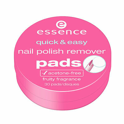 Essence Nail Polish Remover Quick Easy 30 pads (UK STOCK)