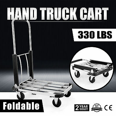 330lbs Hand Truck Trolley Sack Warehouse Portable Cart Dolly Collapsible UPDATED