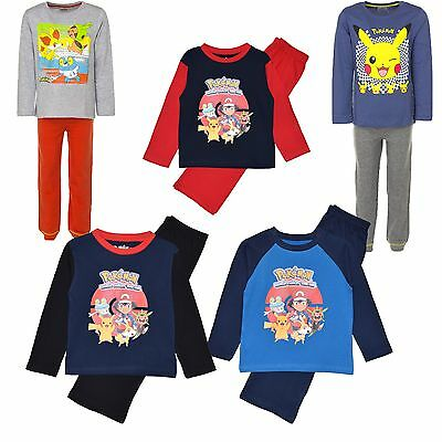 Official Pokemon Long Sleeve Top & Long Legged Pj/Pyjamas 4-12 Years