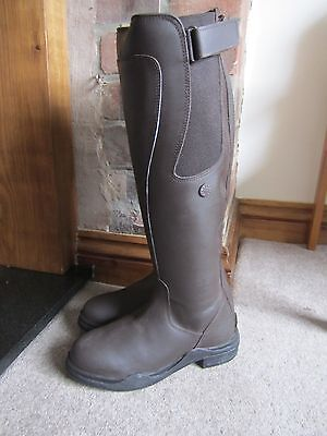 Kinpurnie Angus Long Leather Riding / Country Boots - UK 3 /  EU 36