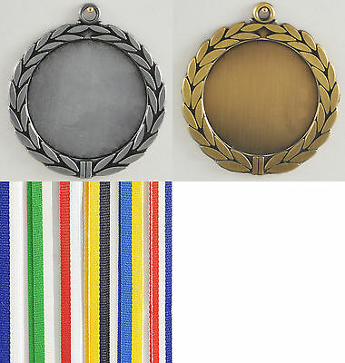 Reste Medaille Metall 70mm incl Emblem silver mit Band