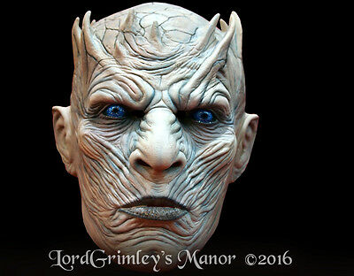 Official Licensed Game Of Thrones Night King Undead White Walker Halloween Mask
