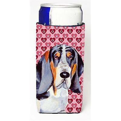 Basset Hound Hearts Love And Valentines Day Portrait Michelob Ultra s For Sli...