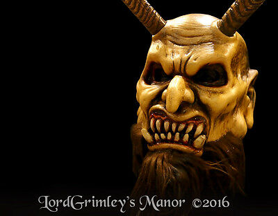 Krampus Halloween Mask With Moveable Jaw Horror Undead Demon Killer