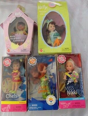 Kelly Lot of 5 dolls incl Miss Nikki Skier Lorena Maria Easter Melody Bunny more