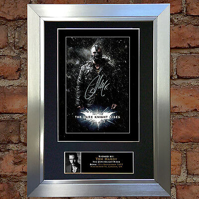 TOM HARDY Dark Night Rises Signed Autograph Mounted Repro Photo A4 Print 105