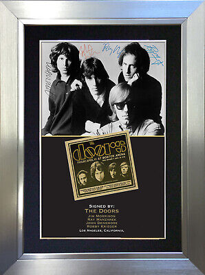 THE DOORS Signed Autograph Mounted Photo Reproduction A4 Print no204