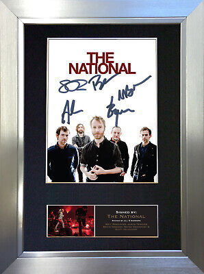 THE NATIONAL Signed Autograph Mounted Photo Reproduction A4 Print no519