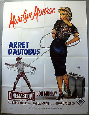 Bus Stop - Marilyn Monroe / Don Murray - Original French Grande Movie Poster