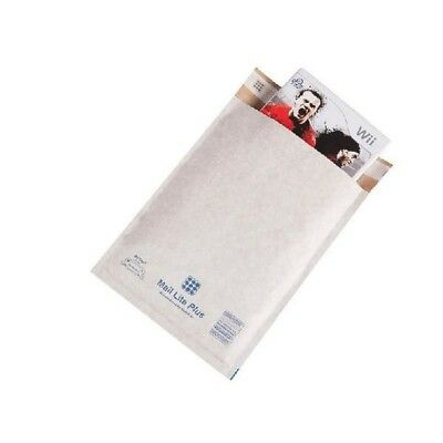 Mail Lite Plus Bubble Lined Postal Bag Oyster 240x330mm Pk 50 MLPG/4