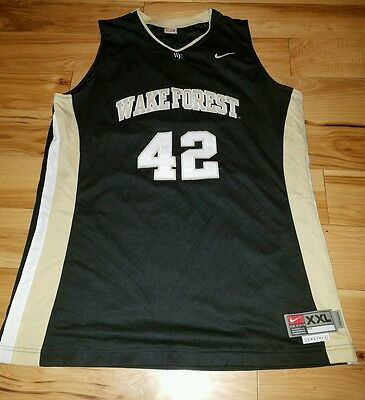 c0c456602 Vintage NIKE Wake Forest Deacons Basketball Jersey Size 2XL XXL Sewn +2 WF  NCAA