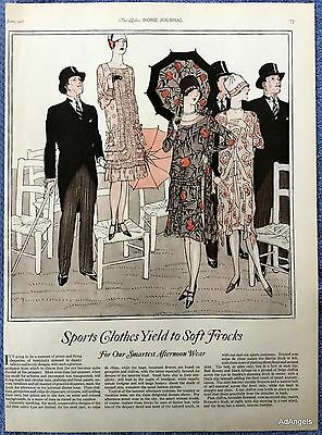 1927 Ladies Home Journal Sports Clothes Soft Frocks Afternoon Wear Fashion ad
