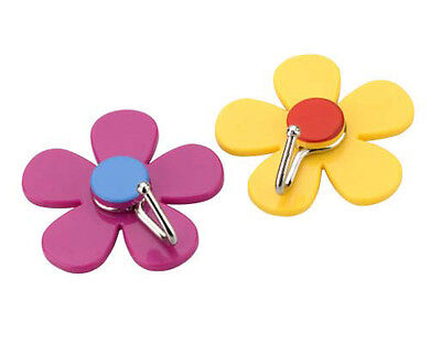 Chef Aid Kitchen Utensils Flower Shaped Wall Hanging Hooks Hangers - Pack of 2
