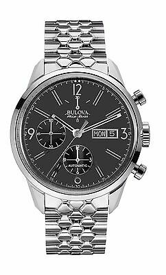 Bulova Accutron Men's 63C119 Accu Swiss Murren Chronograph Black Dial Watch