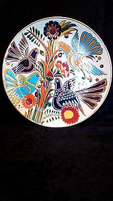 "Vintage Ceramic Keramikos Greece Greek Plate Hand Made ""Nassos"" Rodos-Hellas"