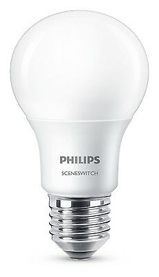 Philips E27 LED Lampe SceneSwitch 8W 806Lm warmweiss