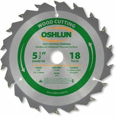 Oshlun SBW-055018 5-1/2-Inch 18 Tooth ATB Fast Cutting and Trimming Saw Blade