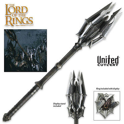 The Hobbit Resin Mace Of Sauron with Display United Cutlery