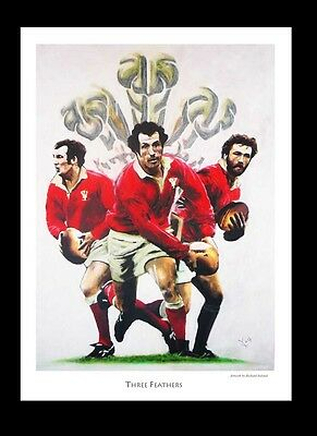 THREE FEATHERS: Bennett-Edwards-Gravell -  FINE ART PRINT Signed by Artist