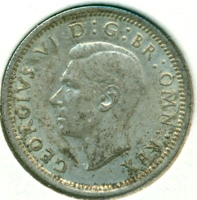 1943 Uk/gb Sixpence, Nice Eextra Fine/almost Uncirculated, Great Price!