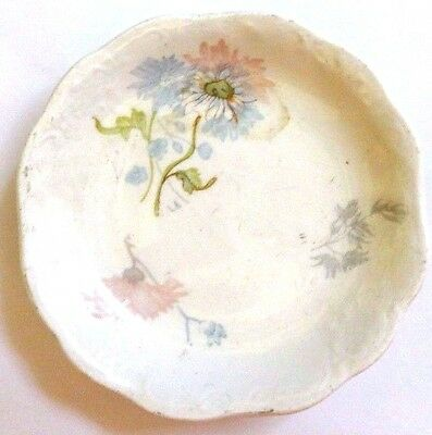 Vintage Butter Pat Porcelain Johnson Bros. Epicland White W Pink & Blue Flowers