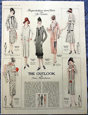 1925 McCall's The Outlook Patterns Chanel Patou Renee Drecoll Paris Style ad