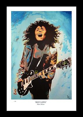 HOT LOVE: Marc Bolan - FINE ART PRINT