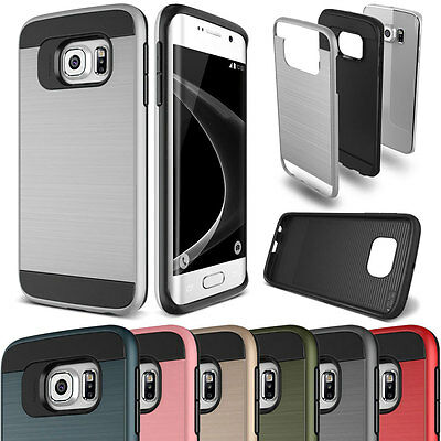 Shockproof Rubber Defender Protective Hard Case Cover For Samsung Galaxy S7 Edge
