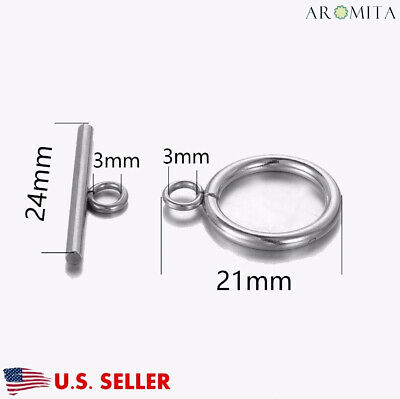 Wholesale Stainless Steel Toggle Clasps OT Clasps Jewelry Findings 16mm Dia