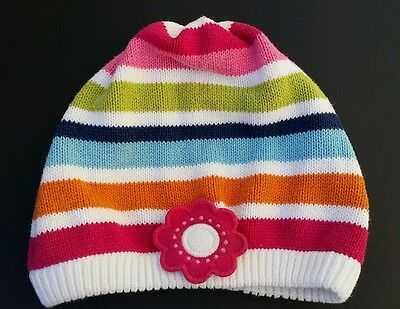 Gymboree Girls Smart And Sweet Baby Sweater Hat Size 0-12 Months 6 Flower