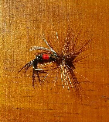 Royal Wulff Brown Hackle Dry Trout Fly 5 pcs size #10 Free Shipping