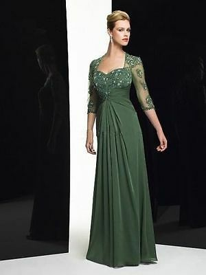 Chiffon Evening Dresses Beaded lace Prom Gowns Formal Mother of the bride dress