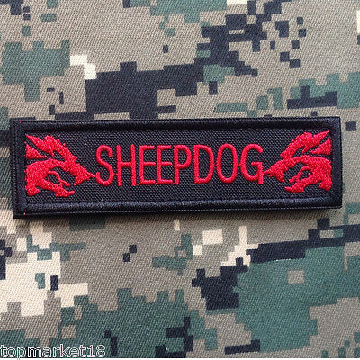Sheepdog Tab K9 Police Blue Line Us Army Military Tactical Morale Red Hook Patch
