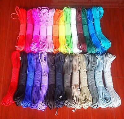 100FT Paracord 550 New Parachute Rope 7 Core Strand Outdoor Camping Tools Hot