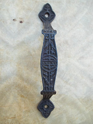 "Ornate 7"" Cast Iron Victorian Door Handle / Pull, Free S/H"