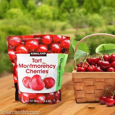 1 x Kirkland Signature Tart Montmorency Cherries Whole Dried 567grams