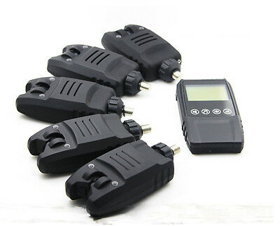 Wireless Bite Alarm Set Of 3 4 5 + Touch Receiver With Box Carp Fishing LED
